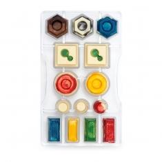 Γεωμετρικά Σχέδια καλούπι 14 θέσεων για σοκολατάκια της Decora