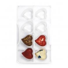 Καρδιές καλούπι 8 θέσεων για σοκολατάκια 14γρ της Decora
