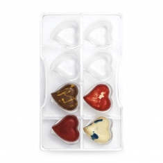 Hearts Chocolate Mould with 14 cav., by Decora
