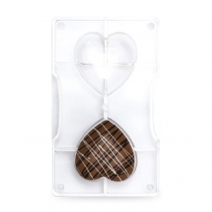 Medium Hearts Chocolate Mould with 2 cav., by Decora