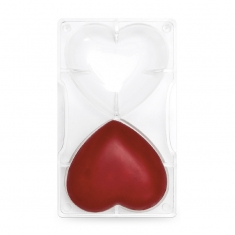 Large Hearts Chocolate Mould 2 cav., by Decora