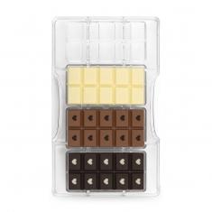 Μπάρα με Καρδιά καλούπι 4 θέσεων για σοκολάτα της Decora