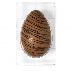 350g Egg Chocolate Mould  1 cav., Cavities: 230 x 163 x h80 mm