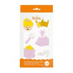 Διακοσμητικά Ζαχαρωτά  Decora Ροζ Πριγκίπισσα, 6 τμx., Δ: 1,5 - 5 εκ.