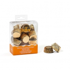 Super Mini Χρυσά Καραμελόχαρτα για Σοκολατάκια 180 τμχ.