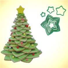 Plastic Cookie Cutter Star - Christmas Tree