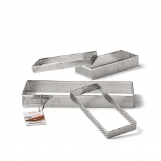 Rectangular Shaped INOX Perforated Form by Decora