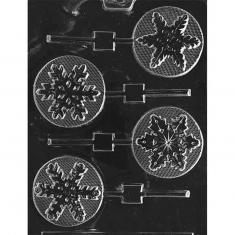 Assorted Snowflakes Lollies Mold - Dim.: Ø6,99 x 0,64 cm