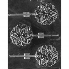 Snowflakes Lollies Mold - Dim.: Ø7,62 x 0,95cm