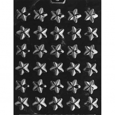 Stars Chocolate / Sugarpaste Mold - Dim.: Ø2,54 x 0,64cm