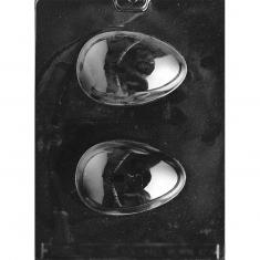 Medium Hollow Egg Chocolate Mold - Dim.: 10,16 x 6,66 x 2,54cm
