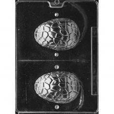 3D Cracked Egg Chocoalte Mold - Dim.: 10,16 x 6,99 x 3,5cm