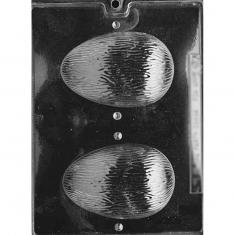 Καλούπι για Σοκολατένιο 3D Αυγό με Ραβδώσεις Δ:  11,75 x 7,93εκ.