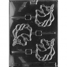 Unicorn Lollies Mold -Dim.: 8,25 x 7,62cm
