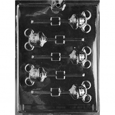 Mickey Mouse Lollies Mold - Dim.: 5,08 x 5,08cm