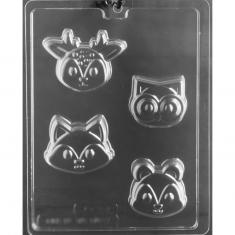 Woodland Animal Faces Cookie Mold, 68,04-79,38gr (2,4-2,8 oz) - Dim.: 5,40-6,99 x 6,35-8,89 x 2,38-2,54cm
