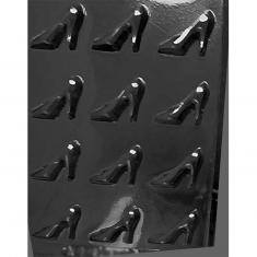 High Heels Shoes Chocolate / Sugarpaste Mold - Dim.: 3,50 x 4,76 x 0,64cm