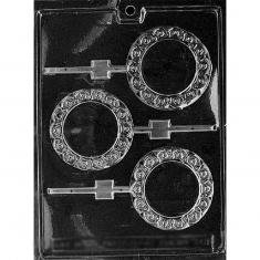 Κυκλική Κορνίζα/Καθρέπτης - Καλούπι για Γλειφιτζούρια Δ: 8,26 x 0,64εκ.