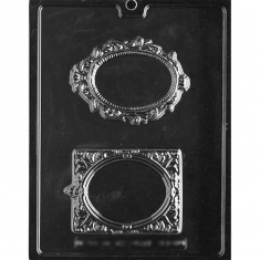 Fancy Frames Chocolate / Sugarpaste Mold - Dim.: 11,43-11,75 x 7,94-8,89 x 0,95cm
