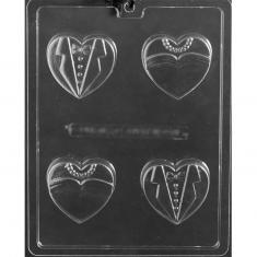 Bride & Groom Hearts Cookie Mold - Dim.: 6,35 x 5,87 x D1,91cm