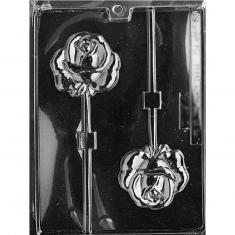 Rose Lollies Mold - Dim.: 7,62 x 6,99 x 1,27cm