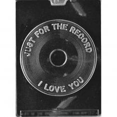 Vinyl I Love You Chocolate / Sugarpaste Mold - Dim.: Ø15,58 x 0,95cm