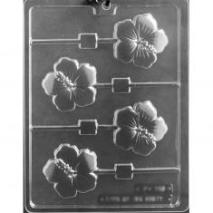 Hibiscus Lollies Mold -Dim.: 6,35 x 6,35 x D0,95cm