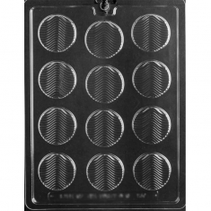 Florentine Wavy Wafer Chocolates Mold - Dim.: Ø4,60 x D0,48cm