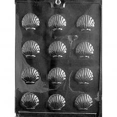 Μικρά Κοχύλια - Καλούπι για Σοκολατάκια - Ζαχαρόπαστα Δ: 3,18 x 3,49 x 0,95εκ.