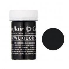 Μαύρο Γλυκόριζας (Liquorice) Συμπυκνωμένο Χρώμα πάστας για αποχρώσεις της SugarFlair 25γρ