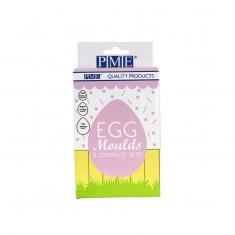 Σετ 3τμχ. Καλούπια για Πασχαλινά Σοκολατένια Αυγά της PME Υ7,4 - 12,5εκ.