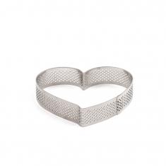 Διάτρητη Φόρμα - Τσέρκι Ψησίματος Καρδιά της Decora - 10 x 9 x Υ2 εκ.