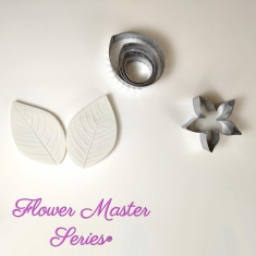 Cutters and Veiners Set for Rose Leaf - Flower Master Series
