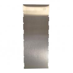 Inox Διακοσμητικό Σκρεΐπερ (Scraper) No23 με 2 μικρά Κυρτά σχέδια Δ: 223*89*1χιλ.