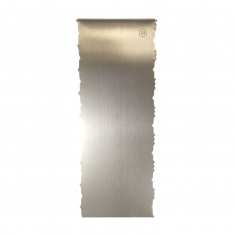 Inox Διακοσμητικό Σκρεΐπερ (Scraper) No28 με 2 μικρά Κοίλα/Κυρτά σχέδια Δ: 228*89*1χιλ.