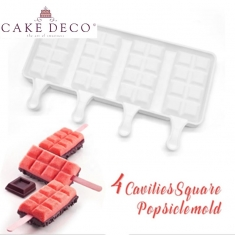 Παγωτό Ξυλάκι με Τετράγωνα Σοκολάτας Υ9,2εκ. Καλούπι Σιλικόνης 154γρ
