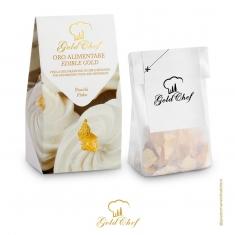 Edible Gold Flakes 40mg bag 23kts.