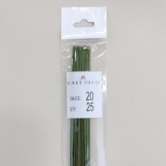 Νο.20 Πράσινα Σύρματα Λουλουδιών 25 τεμ. Ιαπωνικά