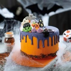 Σετ 6 Βρώσιμα Διακοσμητικά Halloween Ζομπι Φρανκενσταιν 3,5-4,5εκ της Decora
