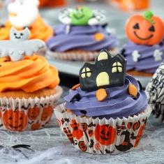 Θήκες για Cupcakes φούρνου Halloween φαντάσμα, μαγισσα, κολοκύθα 36 τμχ. ø50 x Υ32 χιλ.