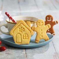 Ανθρωπάκι και Σπίτι Gingerbread Σετ 2 κουπάτ της Decora Δ. 7-8εκ.