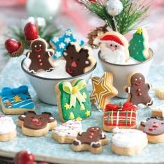 Σετ 6 Μίνι Χριστουγεννιάτικα κουπάτ της Decora Δ. 3-4εκ.