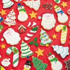 Χριστουγεννιάτικο Δέντρο και Χιονάνθρωπος Σετ 2 κουπάτ της Decora Δ. 8-8,5εκ.