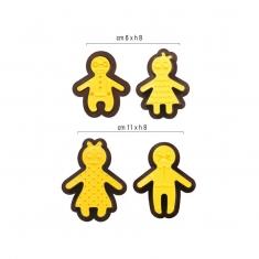 Σετ 8 κουπάτ & Στάμπες Οικογένεια Gingerbread της Decora Δ. 6-11εκ.