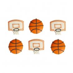 Μπάσκετ Σετ 6 Βρώσιμα Διακοσμητικά Ζάχαρης της Decora Διαστ. 3-4εκ