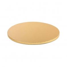 Χρυσός Στρογγυλός Χοντρός Δίσκος Δ25xY1,2εκ.