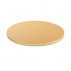 Χρυσός Στρογγυλός Χοντρός Δίσκος Δ30xY1,2εκ.