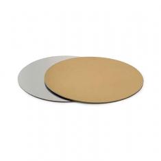 Φ16 Χρυσός/Ασημί Λεπτός Δίσκος Ζαχαροπλαστικής Πάχ.1,5χιλ., 12τεμ.