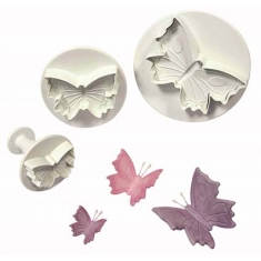 S/M/L Butterfly Plunger Cutters Set/3
