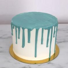 Γαλάζιο Cake Drip με Γεύση Λευκή Σοκολάτα 150γρ / 5.25oz